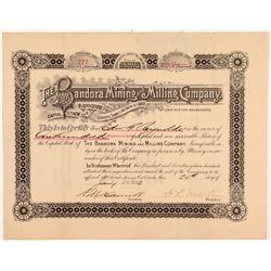 Bandora Mining & Milling Co. Stock Certificate   (107166)