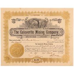 Calaverite Mining Company Stock Certificate   (107170)
