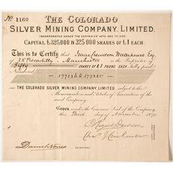 Colorado Silver Mining Company Stock   (85213)