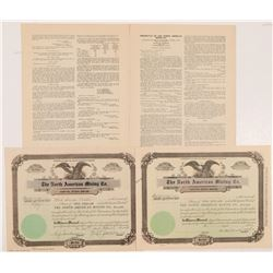 North American Mining Co. Stock Certificates & Prospectus   (104280)