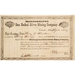 San Rafeal Silver Mining Co. Stock Cert.   (76258)