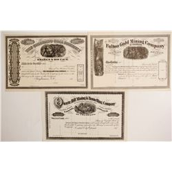 Three unissued Colorado Stocks   (87932)