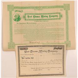 Last Chance Mining Company Bond & Stock Certificate   (107100)