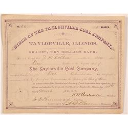 Taylorville Coal Company Stock Certificate   (104290)