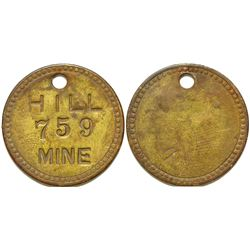 Equipment Tag /Hill Mine / Michigan   (105055)