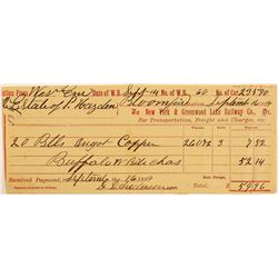 Mining Transfer Slip / Bundles of Copper Ingots   (105033)