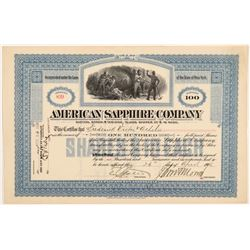 American Sapphire Mining Company Stock Certificate   (107244)