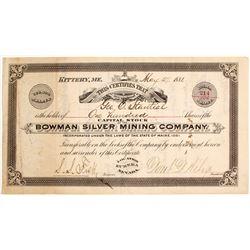 Bowman Silver Mining Co   (84603)