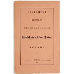 Uncle Sam Senior & Gold Canon Silver Lodes in Nevada   (79063)