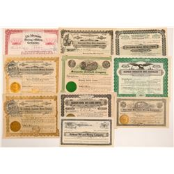 Goldfield Mining Stock Certificates (10)   (107090)