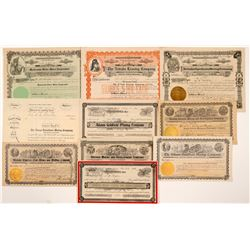 Goldfield Mining Stock Certificates (10)   (107089)