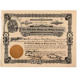 Gold-Coin Mining & Milling Co. Stock Certificate -- Number 1   (107338)