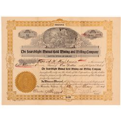 Searchlight Mutual Gold Mining & Milling Co. Stock Certificate   (107144)
