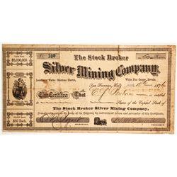 Stock Broker Silver Mining Company Stock   (88116)
