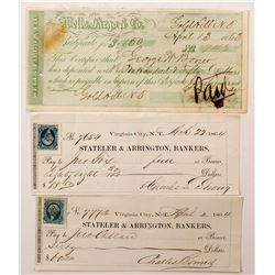 Comstock Territorial Checks & a Wells Fargo COD   (67013)