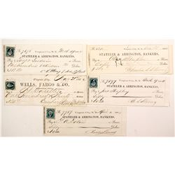 Five Territorial Comstock Mining Checks   (67015)