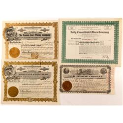 Four Nevada Stock Cert.   (84612)