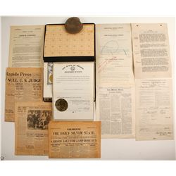 Nevada Mining Book and Ephemera   (89918)