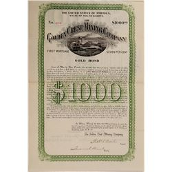 Golden Crest Mining Bond   (106218)