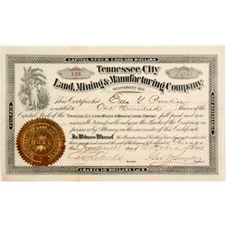 Tennessee City Land, Mining & Manufacturing Company Stock   (83956)