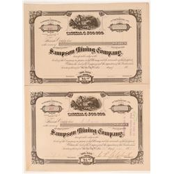 Sampson Mining Company Stock Certificates   (107204)