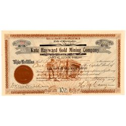 Kate Hayward Gold Mining Company Stock Certificate   (107096)