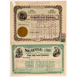 Washington Coal Mining Stock Certificates   (107080)