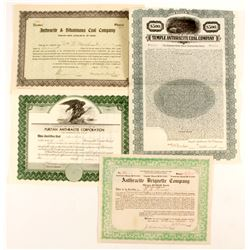 3 Anthracite stock certificates & Bond   (87265)