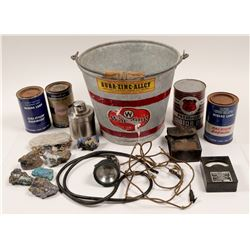 Bucket of Tins, Dupont Meter, Minerals and More   (106214)