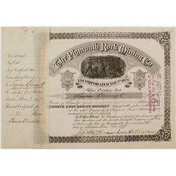 Plymouth Rock Mining Co. Stock   (72046)