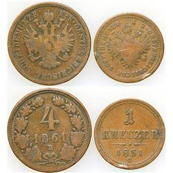 Kreuzer Coins (2)   (75504)