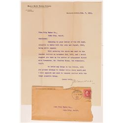Western Pacific Railway Company Letter   (106650)