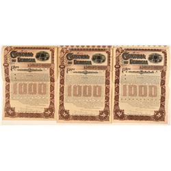 Central of Georgia Railway Co. Gold Bonds (3)   (107377)