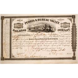 Peoria & Bureau Valley Railroad Stock   (84221)