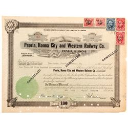 Peoria, Hanna City and Western Railway Stock   (84243)