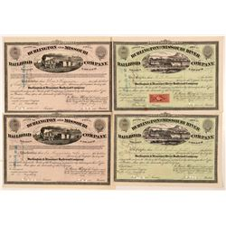 Burlington & Missouri River Railroad Co. Stock Certificates   (107380)