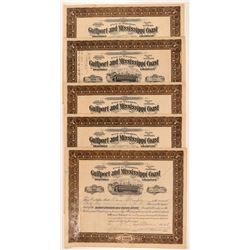 Gulfport & Mississippi Coast Traction Co. Stock Certificates   (107374)