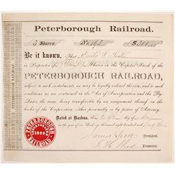 Peterborough Railroad Stock   (84250)