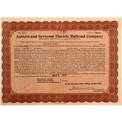 Auburn and Syracuse Electric Railroad Co   (82931)