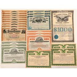 New York Railroad Stock Certificates & One Bond   (107382)