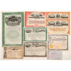 New York Railroad Stocks and Bonds    (105165)