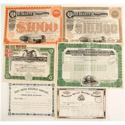 New York Railroad Stocks/Bonds (6)   (86961)