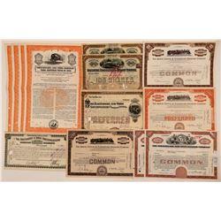 Ohio Railroad Stock Certificates & Bonds (13)   (107357)