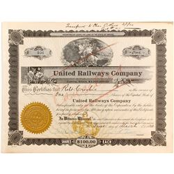 United Railways Co Stock   (84121)
