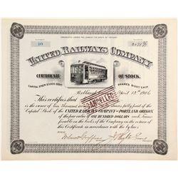 United Railways Co Stock   (84122)