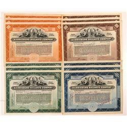Harrisburg Railways Co. Stock Certificates (12)   (107379)