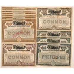 Baldwin Locomotive Works Stock Certificates (14)   (106191)