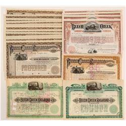 Beech Creek Railroad Co. Stocks   (105701)