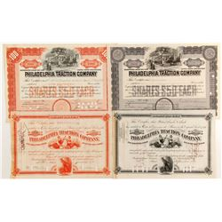 Phialdelphia Traction Co Stocks, 4 Different   (84259)