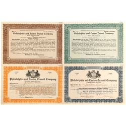 Philadelphia and Easton Transit Certs (4)   (84271)